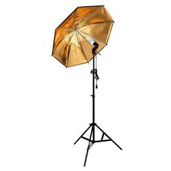 Kit de Iluminación 225w con Sombrilla Dorada para Iluminación de Video