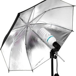 Kit de Iluminación 225w con Sombrilla Plateada para Iluminación de Video