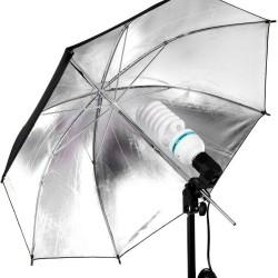 Kit de Iluminación 225w con Sombrilla Blanca para Iluminación de Video