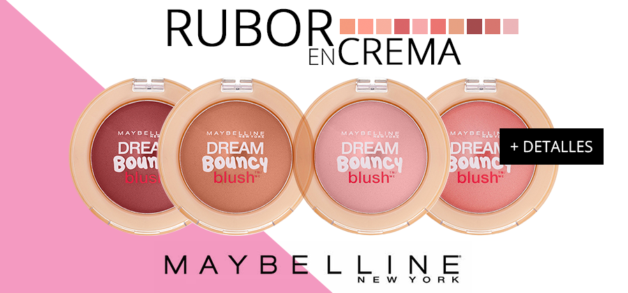 Rubor en Crema Dream Bouncy Blush de Maybelline